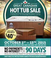 Great Canadian Hot Tub Sale at the SevenOaks Shopping Centre