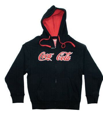 Coca-Cola Script Men's Full Zip Hoodie Sweter Small