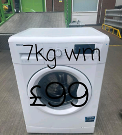 Beko 7kg washing machine free delivery in Leicester