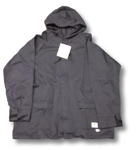 Geliget Flame Resistant FR Medium Gray Jacket with Drawstring Hood (BRAND NEW)