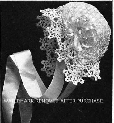 - ~ Vintage Fairy Baby's Hat, Cap, Bonnet, Reproduction Crochet Pattern!