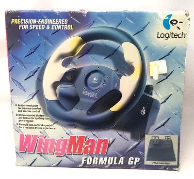 Logitech Wingman Formula GP USB Racing Wheel  V6 for sale  Shipping to South Africa