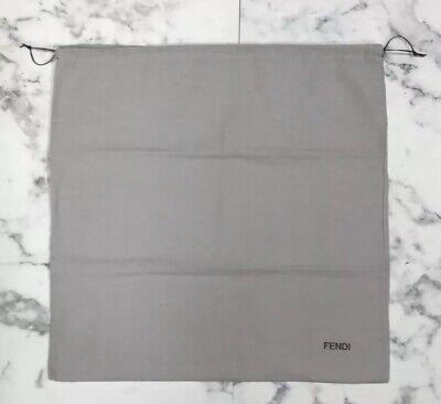"BRAND NEW, PERFECT Authentic Fendi XL Storage Drawstring Dust Bag 23.5"" x 23"""