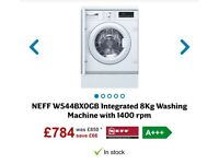 Brand new Neff intergrated washing machine
