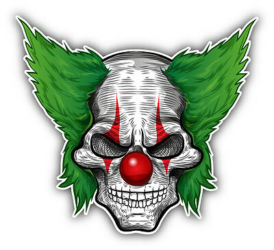 Angry Clown Face (Clown Face Angry Car Bumper Sticker Decal 5