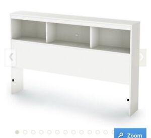 """South Shore 39"""" Sparkling Twin Bookcase Headboard, Pure White"""