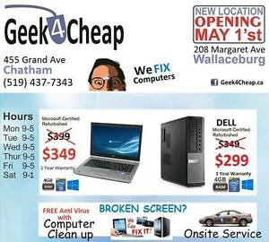 Geek4Cheap ★ $349 SALE HP LAPTOPS ★ 455 Grand Ave E