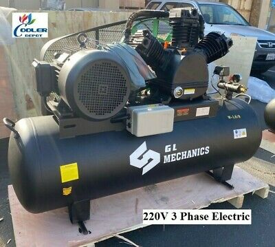 New 15 Hp Piston Two Stage Air Compressor Corded Electric Model 220v 3ph