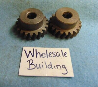 Boston Spur Gear Worm Gears D1600 12 Bore Pressure Angle 14.5 Lot Of 2