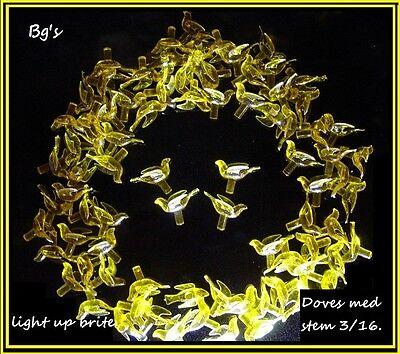 50 Gold CERAMIC CHRISTMAS Tree BIRD ornament lights plastic dove twist flame  Ceramic Christmas Tree Plastic Lights