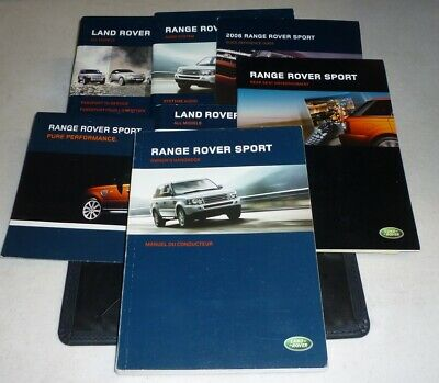 2006 RANGE ROVER SPORT OWNERS MANUAL SET GUIDE 06 +case HSE SC