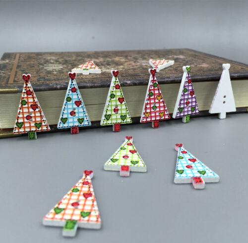 50 100 frohe weihnachten weihnachtsb ume holz kn pfe n hen scrapbooking 30mm ebay. Black Bedroom Furniture Sets. Home Design Ideas
