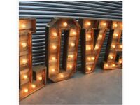 Rustic Light Up Love Letters - Northampton