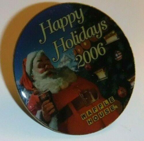 Waffle House 2006 Happy Holidays Pin Pinback Lapel Pin NIP