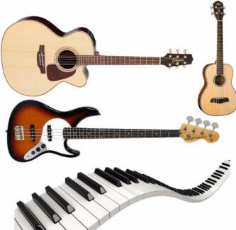 Guitar/Piano/Keyboard/Ukulele/Bass Lessons