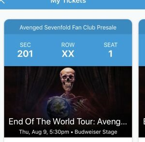 End of the world tour: avenged sevenfold and prophets of rage