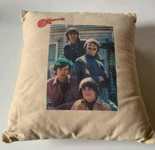 THE MONKEES Pillow SUPER RARE 1960s VINTAGE Cushion ROCK Music BAND #CB