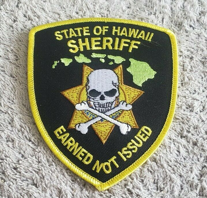 Hawaii State Sheriff Shoulder Patch - Earned Not Issued