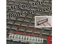 ROLL - A - GROOVE, 4FT CONCRETE ROLLER GROOVER IMPRINTING DECORATIVE GROOVING ROLLER