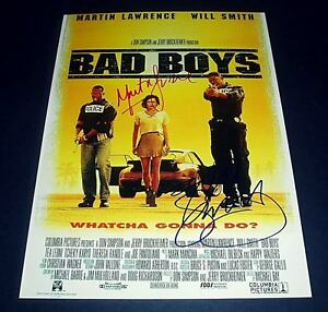 BAD-BOYS-CAST-X2-PP-SIGNED-POSTER-12X8-WILL-SMITH
