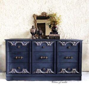 Vintage gray dresser/sideboard