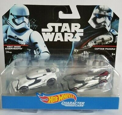 Star Wars Hot Wheels Character Cars First Order Stormtrooper & Captain Phasma