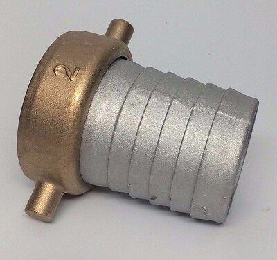 2 Pin Lug Water Hose Fitting Dredge Highbanking Gold Panning Sluicing Npt