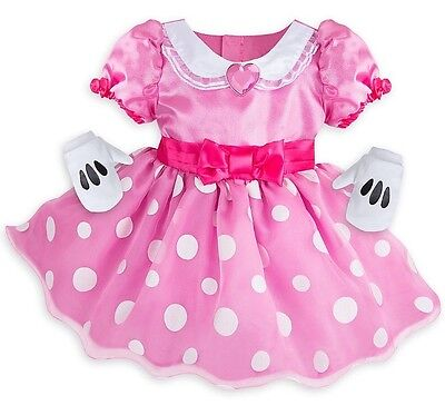 NWT Disney Store Baby Girl's Minnie Mouse Deluxe Costume Size 3-6