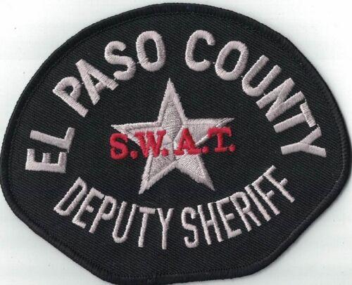 El Paso County S.W.A.T. Police Patch Colorado CO