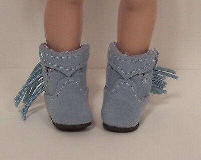 Cowboy Boots For Boys (LT BLUE Faux Suede Cowboy Boots Doll Shoes For Helen Kish Riley & DJ Boy)