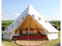 ZIG Bell Tent 5m Sandstone Unused Brand New Bagged with all poles, pegs Heavy Duty zipped grounsheet