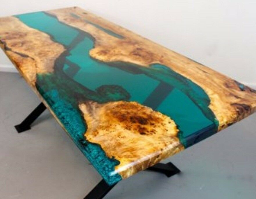 Stunning Epoxy Resin River Tables Made To Order In Poole