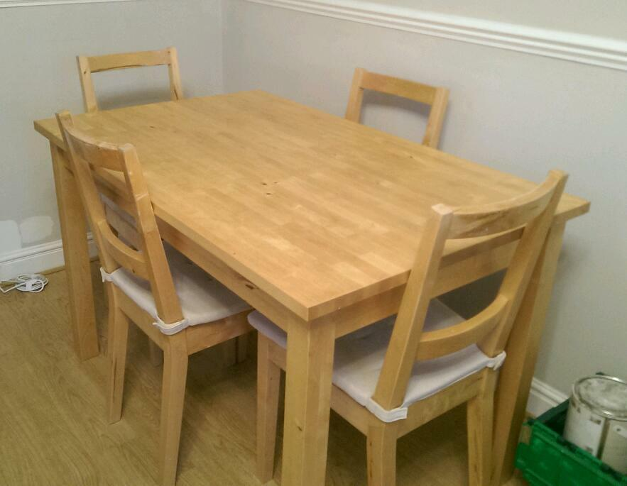 Ikea solid wood round buy sale and trade ads great prices for 5ft dining room table