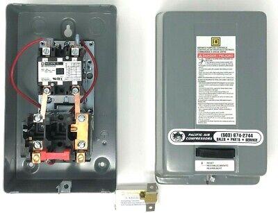 Square D Air Compressor Magnetic Starter 5hp Single Phase 208-240 Volt Oem