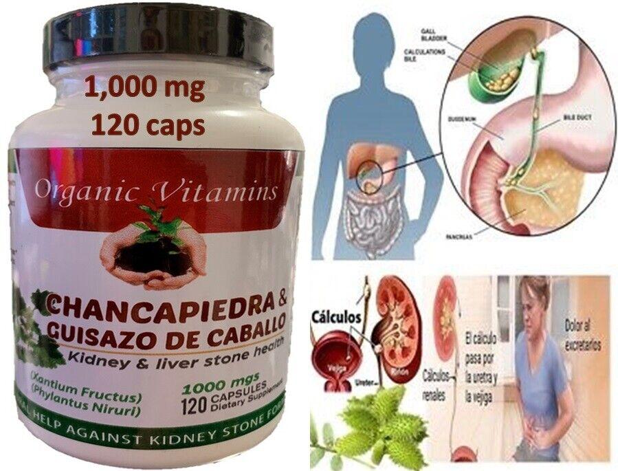 Guisazo de Caballo & Chanca Piedra 1000mg Potente 120 capsules Cure Riñones Pill 4