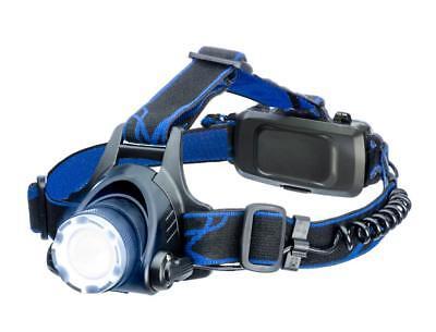 Adjustable Focus Zoom Zooming Rechargeable Pivoting Headlamp Head Work Lamp