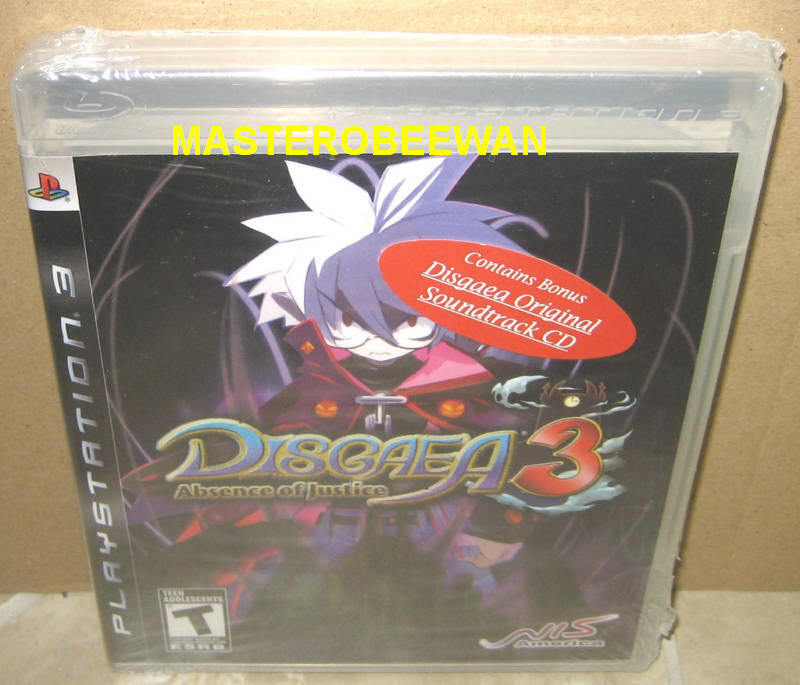Disgaea 3: Absence Of Justice + Soundtrack Sealed (sony Playstation 3, 2008)