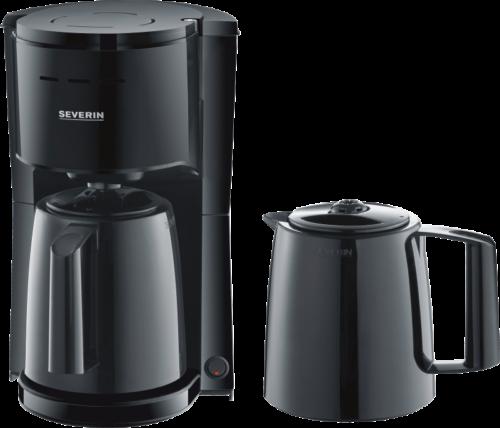 Severin KA 9252 Schwarz Filter-Kaffeemaschine bis 8 Tassen