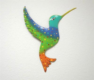 """HUMMINGBIRD 13"""" METAL HAITIAN TROPICAL TIKI WALL HANGING ART DECOR OUTDOOR"""