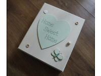 Shabby Chic / Country Craft 'Home Sweet Home' Key Storage House / Box
