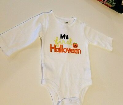 Infant Carter's Unisex Baby My First Halloween White Onesis Size 3M  6 M