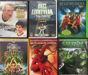 12 DVD's de Films & TV Série