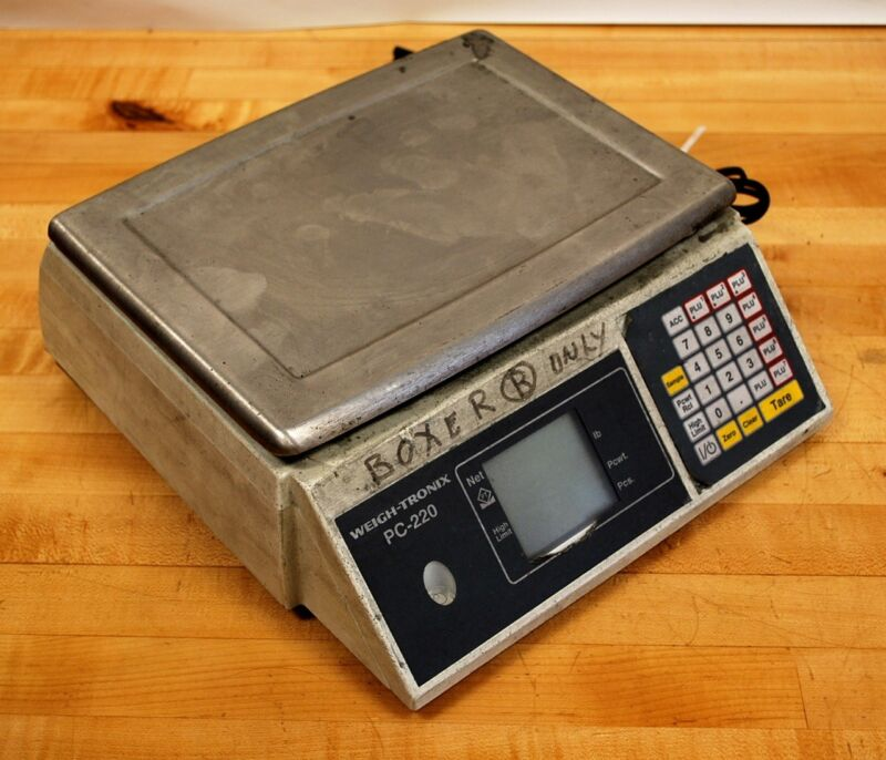 Weigh-Tronix PC-220 Precision Digital Counting Scale. - USED