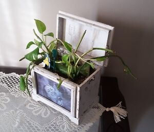 SOLID WOODEN PHOTO BOX PLANTER WITH LID London Ontario image 2