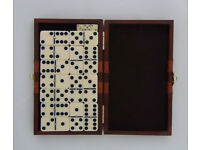 Dominoes Set in Faux Leather Case