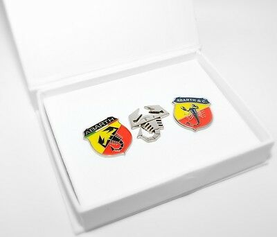 Abarth Merchandise Lapel Pin Badge Set of 3 New Genuine 59230817