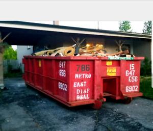 DISPOSAL BIN RENTALS/GARBAGE JUNK BINS 647-856-6902!!!
