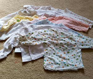 All in one 0-3 months baby girl clothes lot. Great value!!