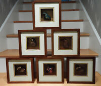 Six Chinese Astrology Framed Shadow Boxes