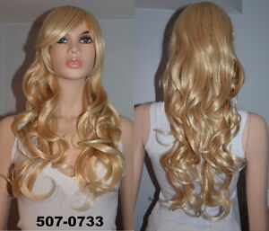 BRAND NEW: Deluxe Natural Highlighted Blonde Wig (507-0733)